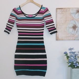 Betsey Johnson striped bodycone dress